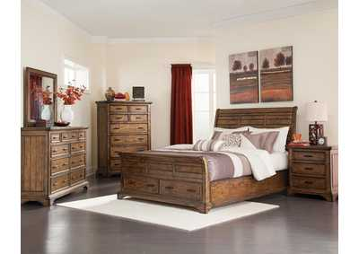 Elk Grove Rustic Bourbon Queen Bed