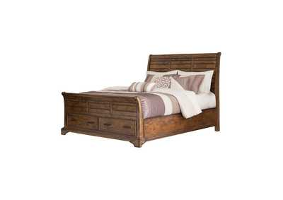 Image for Quincy Elk Grove Rustic Vintage Bourbon Queen Bed