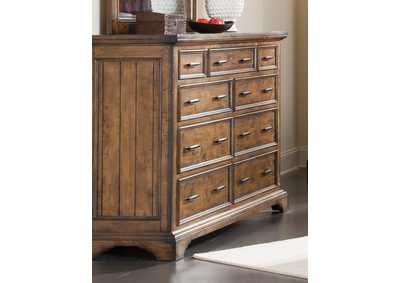 Image for Spicy Mix Elk Grove Rustic Nine-Drawer Dresser