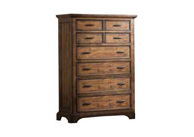 Image for Iroko Elk Grove Rustic Eight-Drawer Chest
