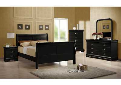 Louis Philippe Black Full Bed