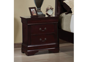 Louis Philippe Cherry Two-Drawer Nightstand