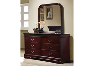 Louis Philippe Cherry Dresser w/Mirror