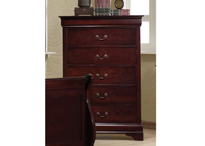 Louis Philippe Cherry Five-Drawer Chest