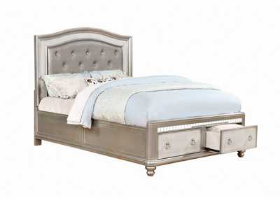 Bling Game Metallic Queen Storage Bed