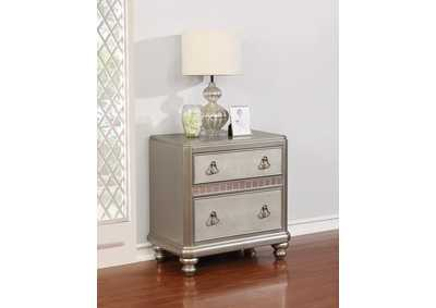 Metallic Platinum Nightstand