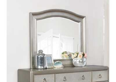 Metallic Platinum Dresser w/Mirror