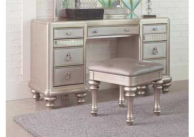 Bling Game Metallic Vanity Desk