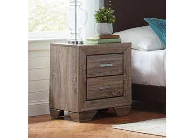 Kauffman Taupe Two-Drawer Nightstand