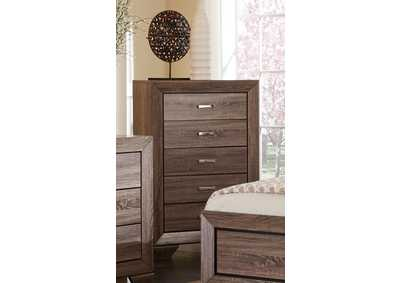 Image for Washed Taupe Kauffman Transitional Five-Drawer Chest