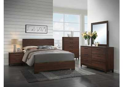Rustic Tobacco/Dark Bronze Eastern King Panel Bed