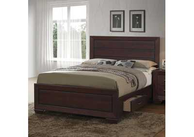 Fenbrook Dark Cocoa Eastern King Storage Bed