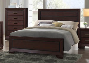 Dark Cocoa Eastern King Panel Bed