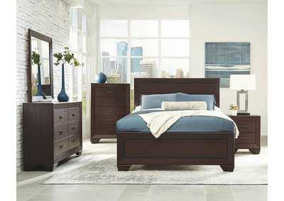 Fenbrook Dark Cocoa Eastern King Panel Bed