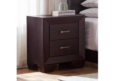 Fenbrook Dark Cocoa Two-Drawer Nightstand,Coaster Furniture