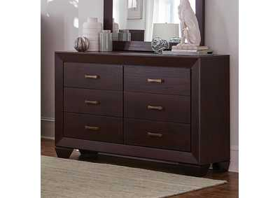 Fenbrook Dark Cocoa Six-Drawer Dresser,Coaster Furniture