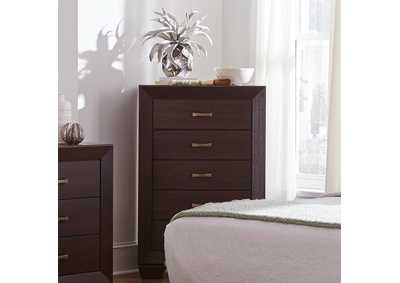 Fenbrook Dark Cocoa Five-Drawer Chest,Coaster Furniture