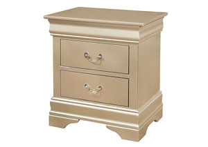 Metallic Champagne Nightstand