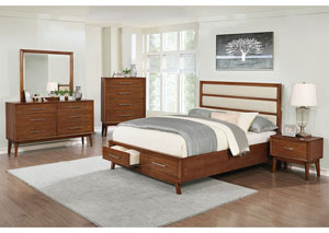 Medium Mango Queen Storage Bed