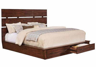 Artesia Dark Cocoa California King Storage Bed