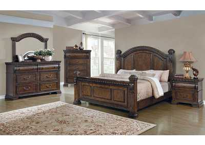 Satterfield Warm Bourbon Eastern King Bed