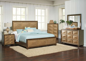 Wheatland Two-Tone Queen Panel Bed