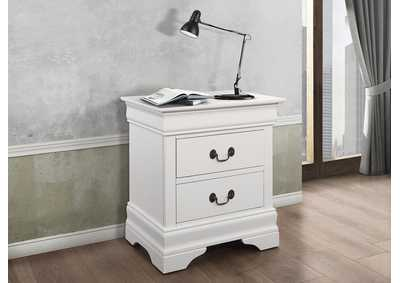 Louis Philippe White Night Stand