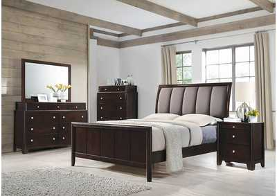 Madison Dark Merlot Queen Platform Bed