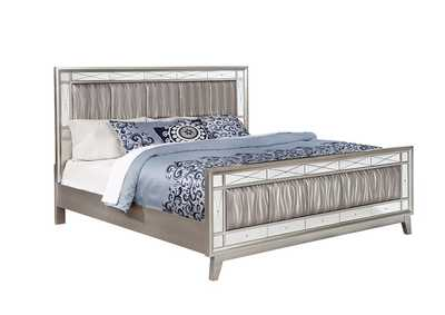 Leighton Metallic Mercury Full Bed