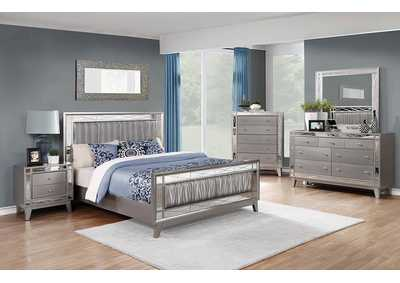 Leighton Metallic Mercury Eastern King Bed