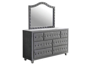 Metallic Dresser w/ Mirror