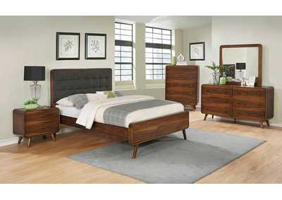Robyn Dark Walnut California King Platoform Bed