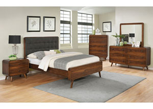 Robyn Walnut Eastern King Platform Bed