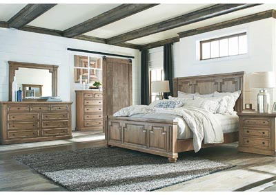 Florence Rustic Smoke California King 4 Piece Bedroom Set