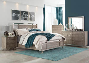 Johnathan Shell Queen Panel Bed