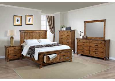 Natural & Honey Queen Storage Bed