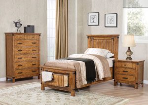 Natural & Honey Twin Storage Bed