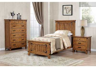 Brenner Rustic Honey Twin Storage Bed