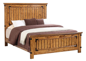 Natural & Honey Queen Panel Bed