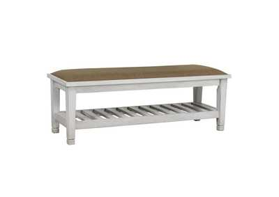 Image for Mist Gray Franco Antique White Dining Bench