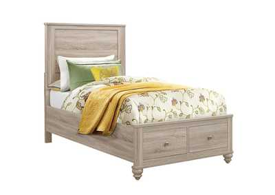 Wenham Natural Oak Twin Storage Bed