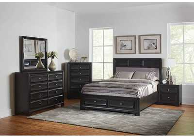 Decker Brown Graphite Eastern King Storage Bed