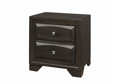 Decker Brown Graphite Nightstand
