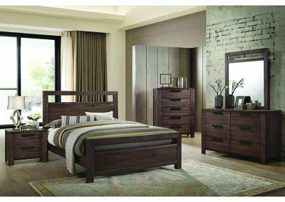 Caila Rustic Ale California King Panel Bed