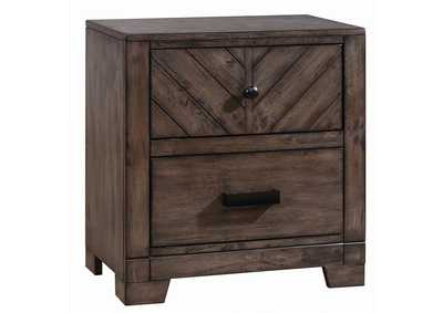 Lawndale Rustic Weathered Grey Nightstand