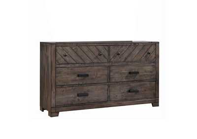 Lawndale Rustic Weathered Grey Dresser