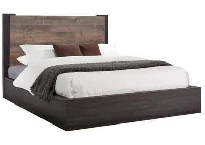 Weston Weathered Oak/Rustic Coffee Queen Platform Bed