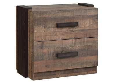 Weston Weathered Oak/Rustic Coffee Nightstand