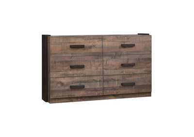 Weathered Oak & Rustic Coffee Dresser