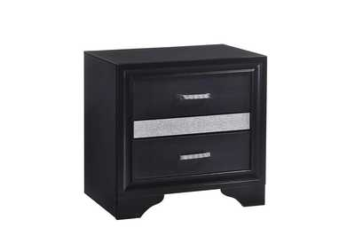 Image for Black Miranda Transitional Black Nightstand